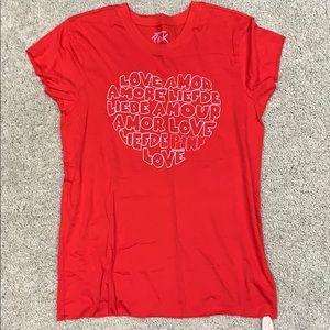PINK Victoria's Secret NWT red shirt.  Size M/L.